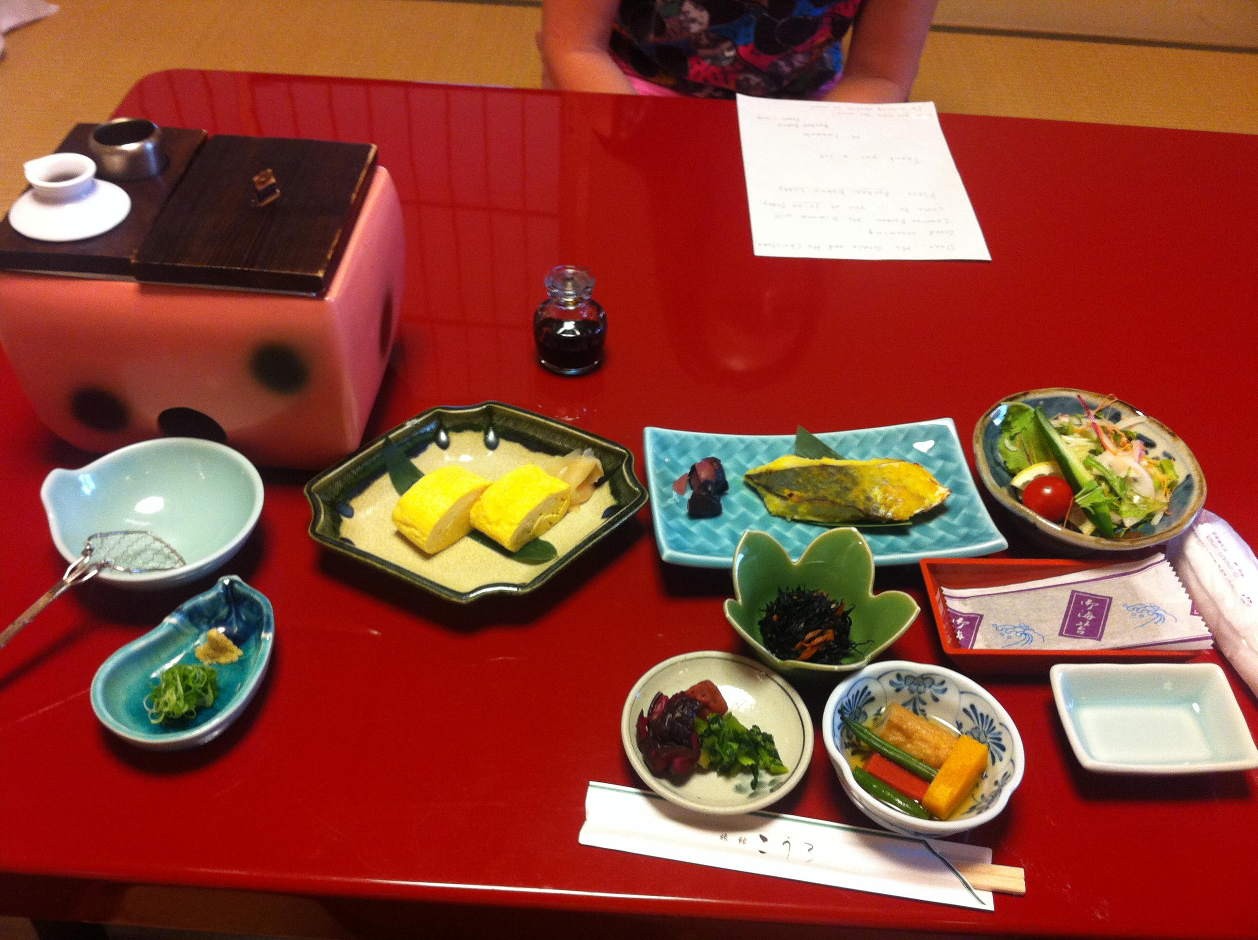 Japanese-style breakfast